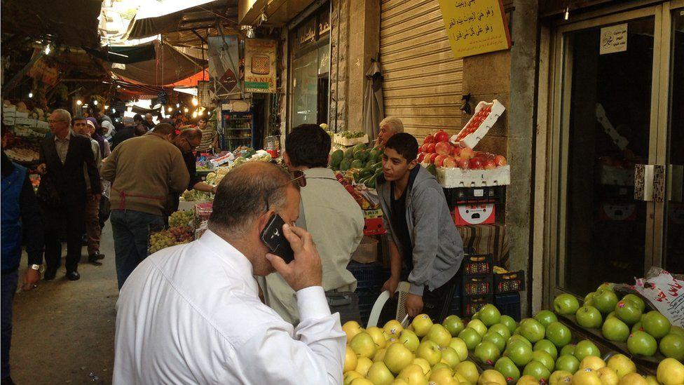 Market in central Amman