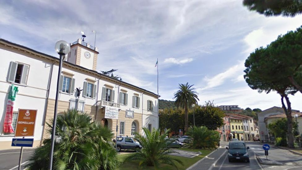 A view of the town hall in Massarosa