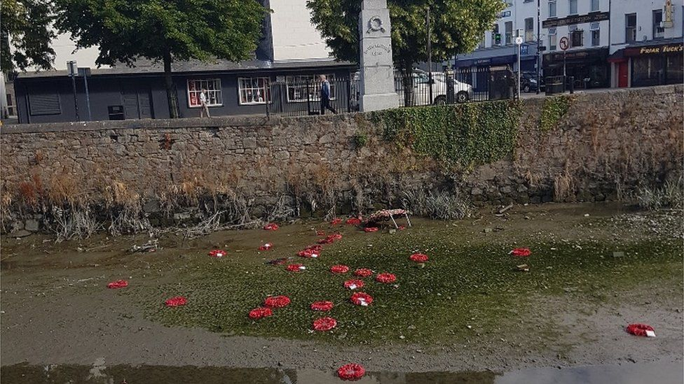 Vandalism at cenotaph in Newry