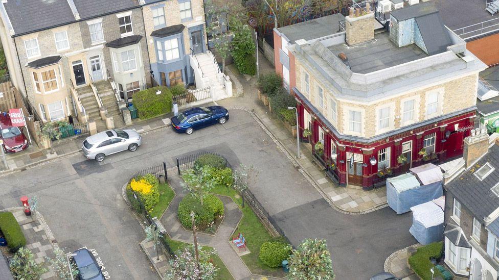 The EastEnders set at Elstree Studios