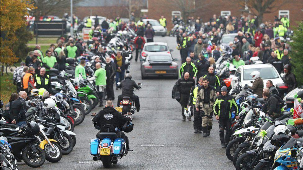 Motorbike gathering in Brackley