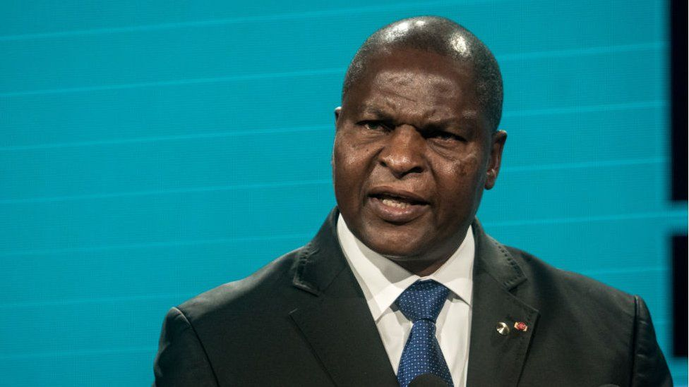 President of the Central African Republic Faustin-Archange Touadéra