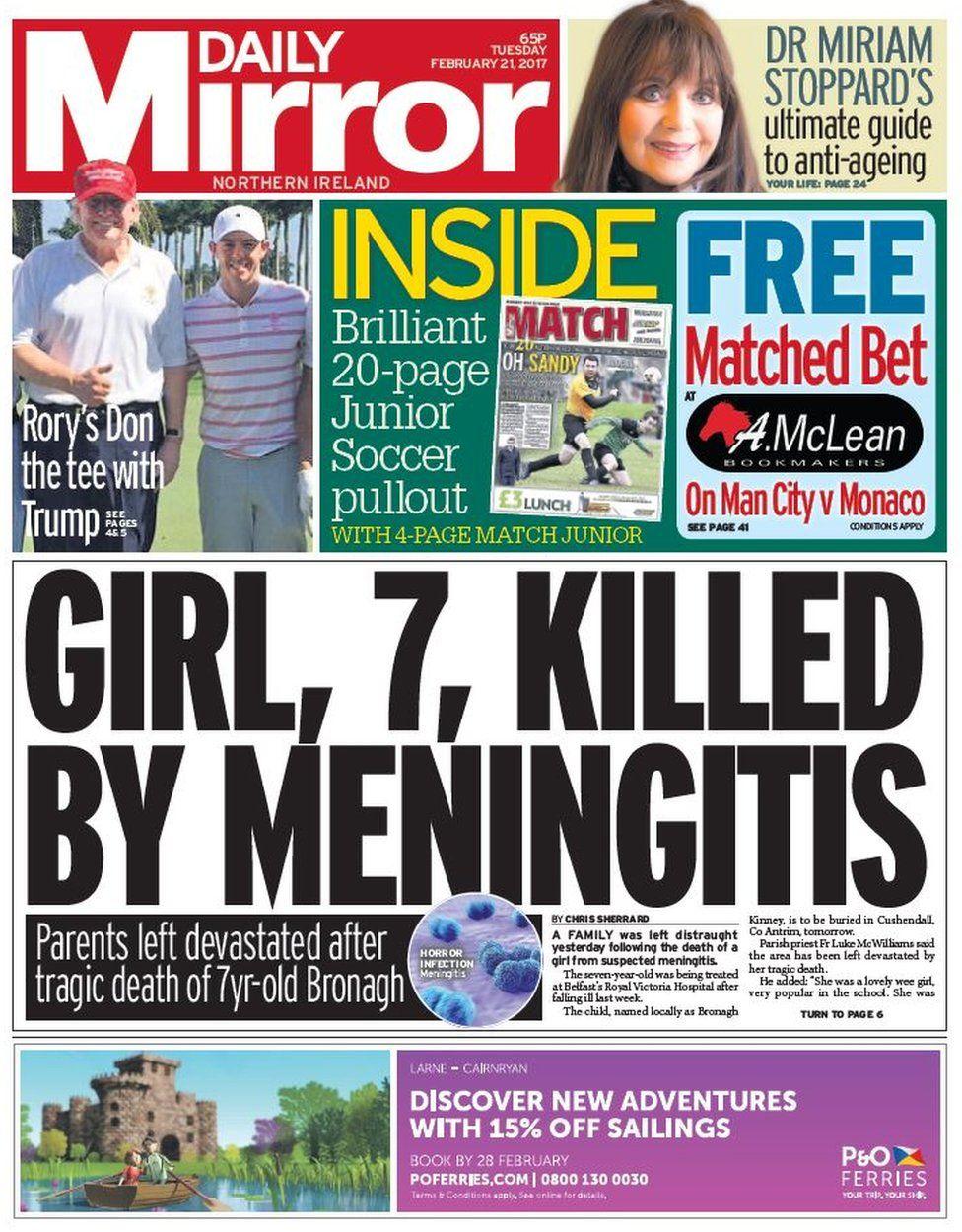Daily Mirror Tuesday 21 February