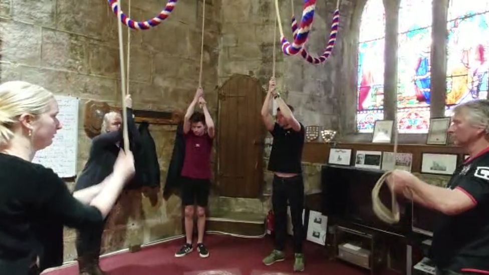 Family ring church bells