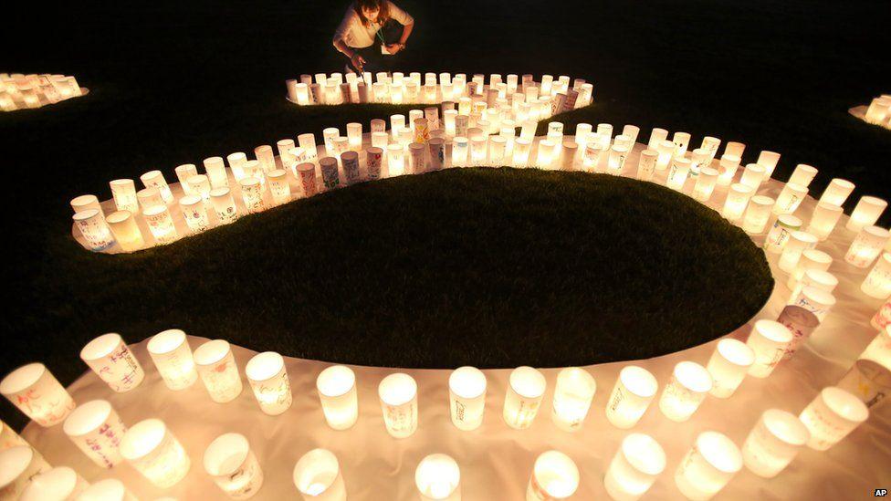 Vigil at Naraha, 4 September 2015