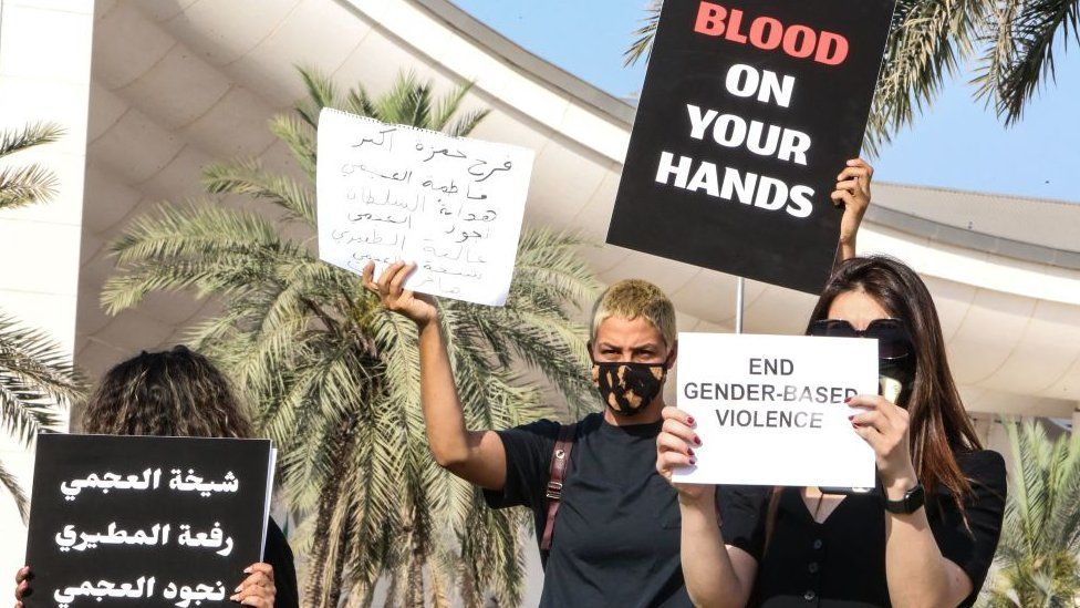 Protesters in Kuwait