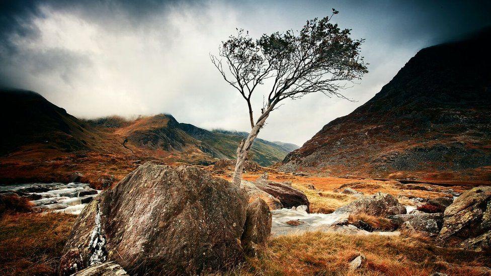 Afon Bochlwyd a Dyffryn Ogwen