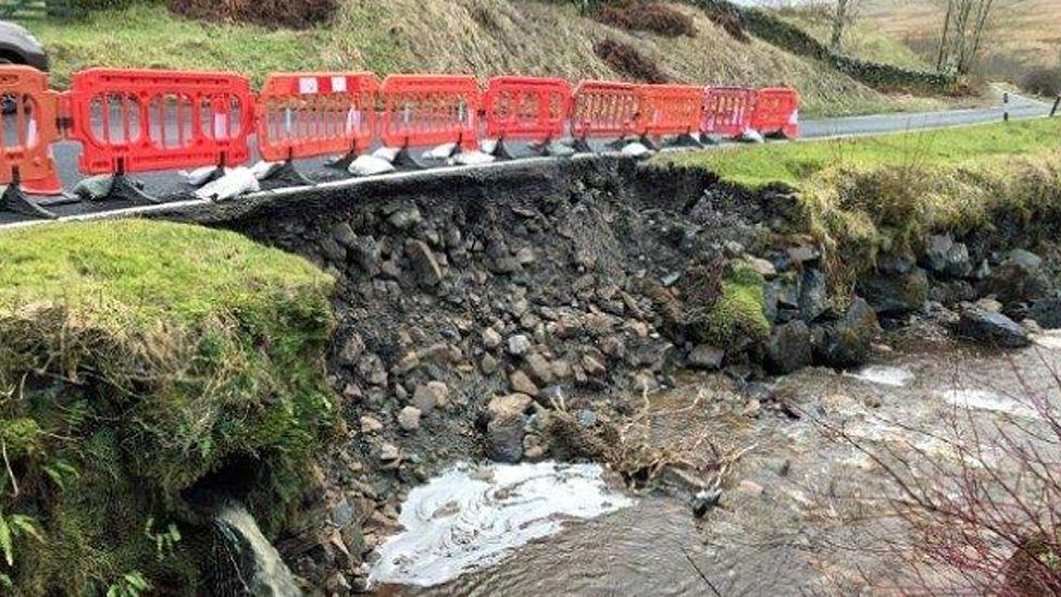 Route damage