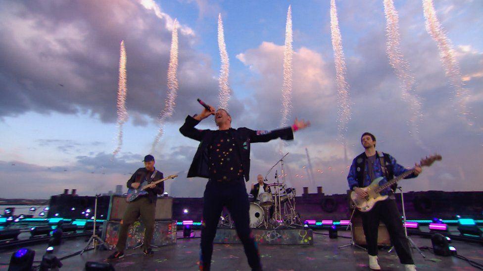 Coldplay at the Brits