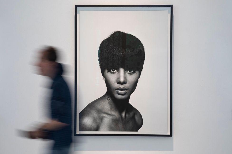 Fashion photograph by Moneta Sleet in the Black Image Corporation exhibition