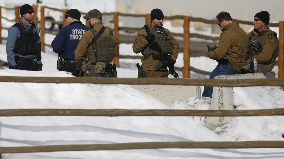 FBI and Oregon State troopers on patrol