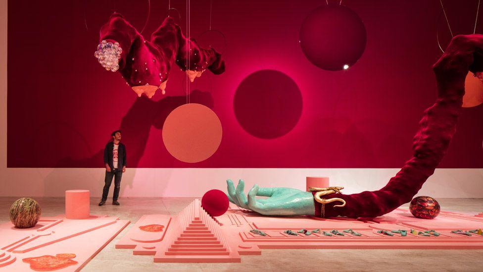 Tai Shani, DC Semiramis, 2019, installation, Turner Prize 2019 at Turner Contemporary