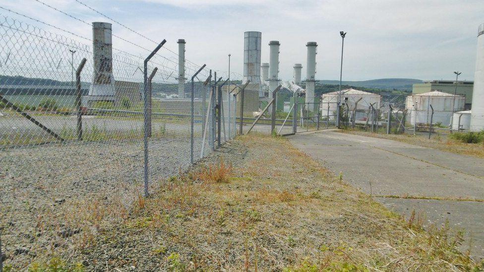 The Ballylumford power station in Islandmagee, County Antrim