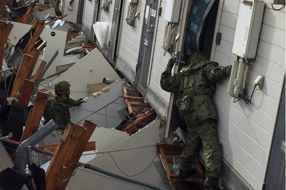 Troops search house-to-house