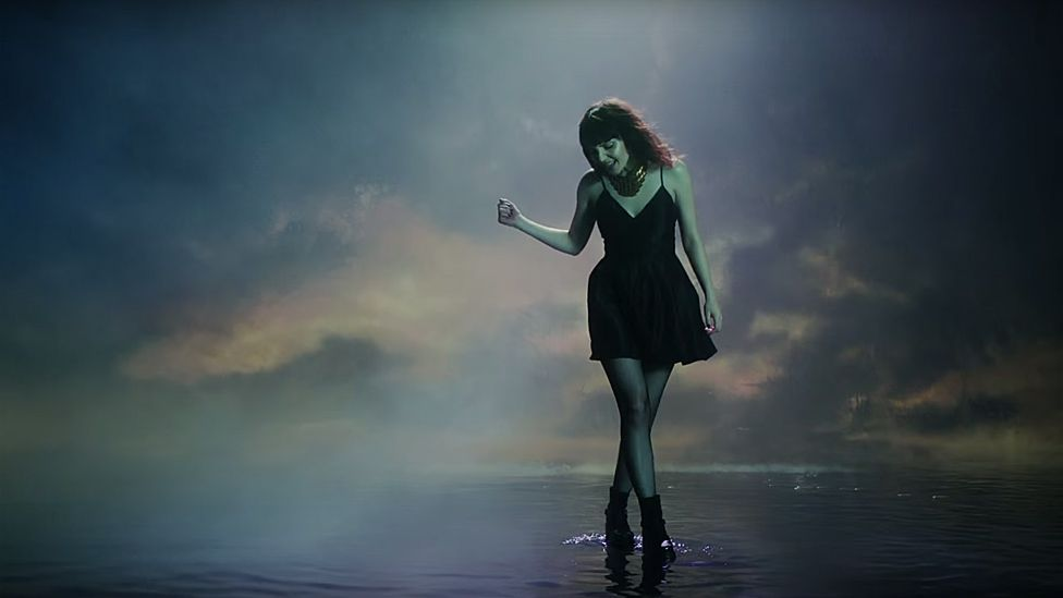 Lauren Mayberry in the video for Leave A Trace