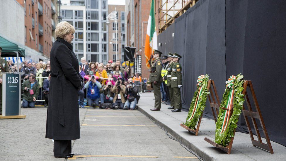Acting Minister for Arts, Heritage and the Gaeltacht, Heather Humphreys, was heckled during the ceremony at Moore Street
