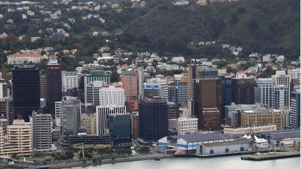 A view across the city of Wellington