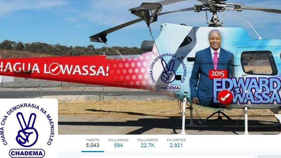 Chadema Twitter account screengrab
