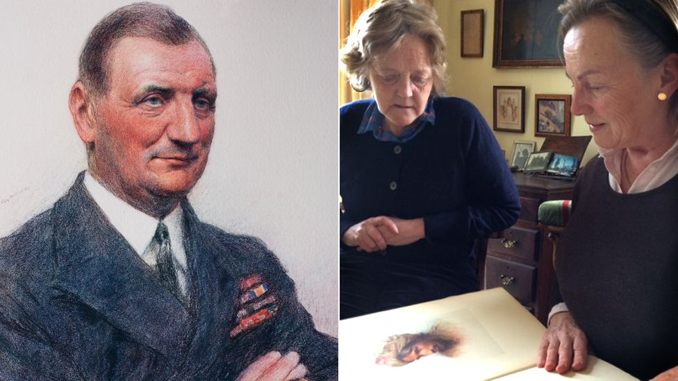 Rear Admiral Sir Edward Heaton-Ellis. Charlotte Chichester and Francoise Witheridge