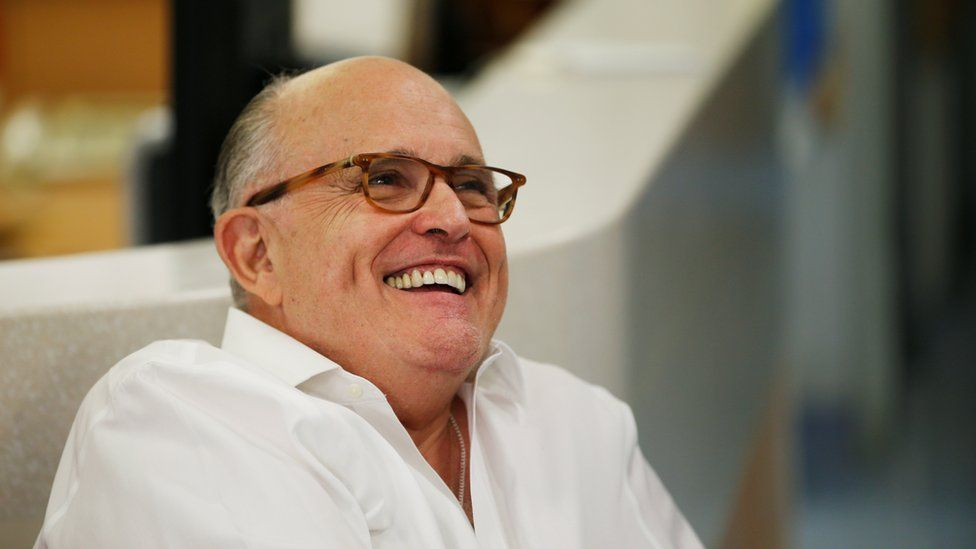 Donald Trump's attorney Rudy Giuliani is seen during a visit at the Hadassah Medical Center in Jerusalem, June 7, 2018.