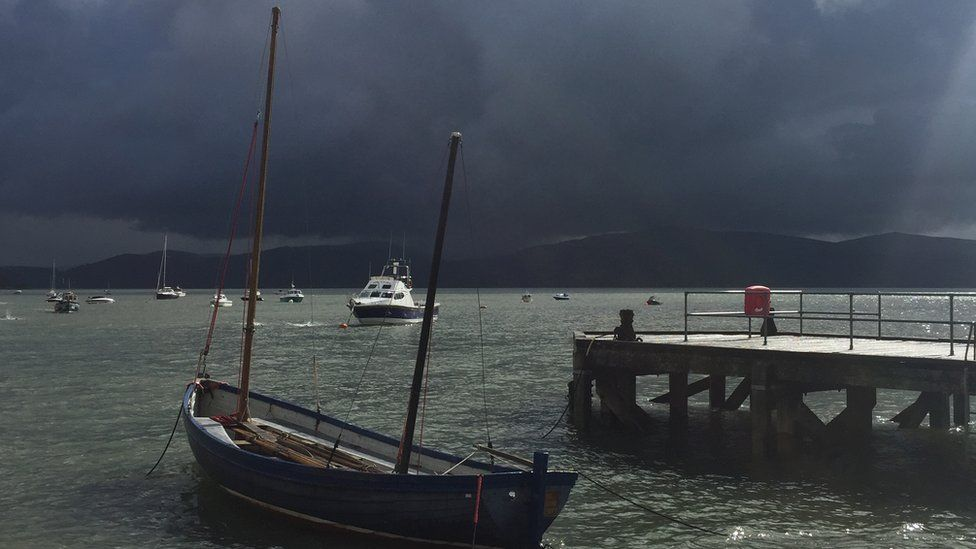 Lynn Hughes enjoyed dodging the showers in Aberdovey