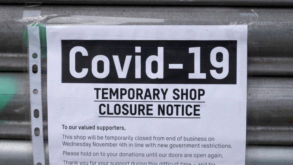 Shop closure sign