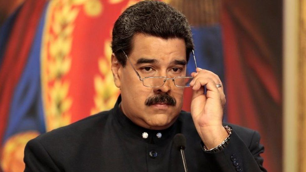 Venezuela's President Nicolas Maduro delivers a news conference at Miraflores Palace in Caracas, Venezuela August 22, 2017.