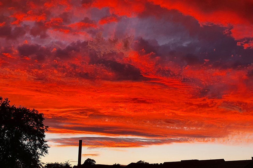 Sunset from Elgin