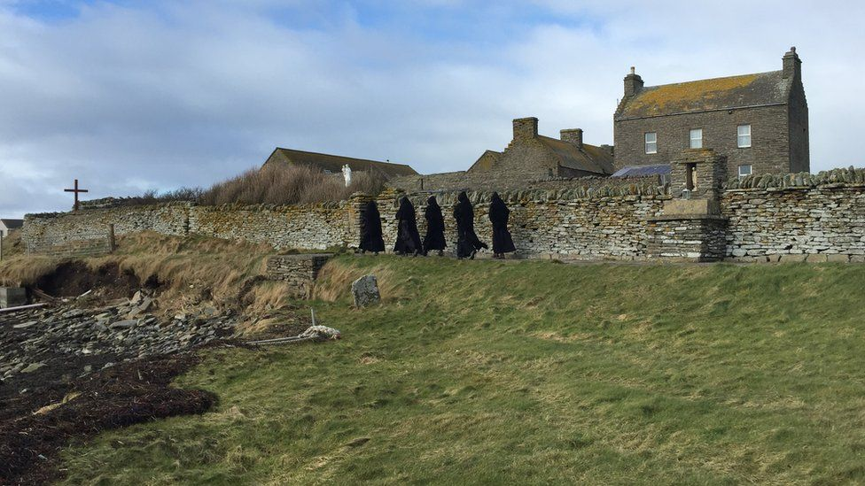 Monks in procession