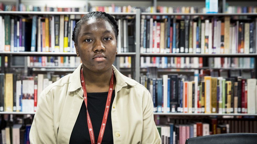 Roberta says it has been a struggle to keep up with her peers from privately educated backgrounds