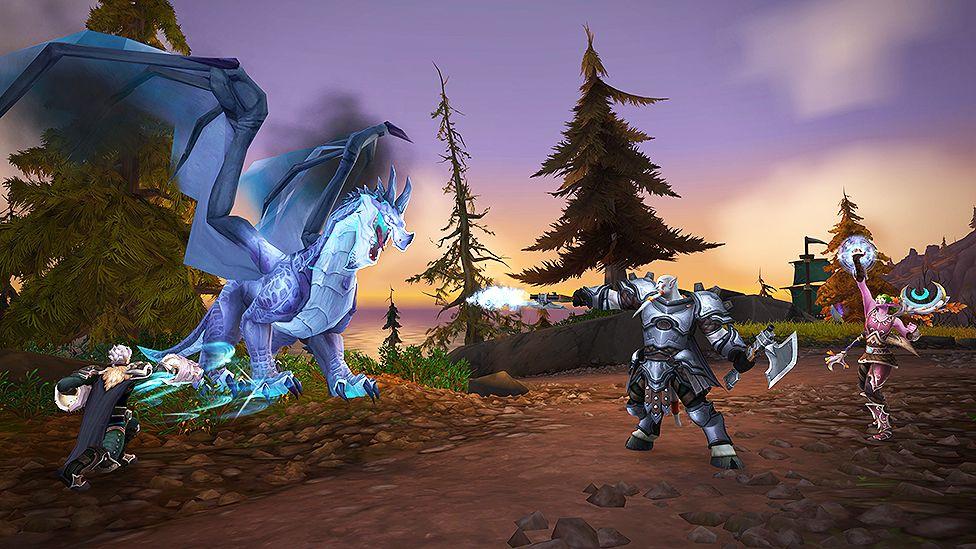World of Warcraft dragon fight