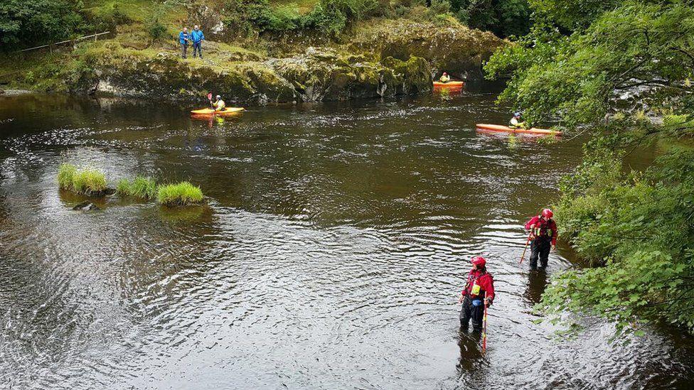 Brecon Mountain Rescue Team river search