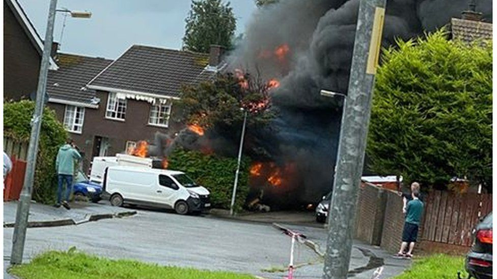 Gas explosion in Armagh