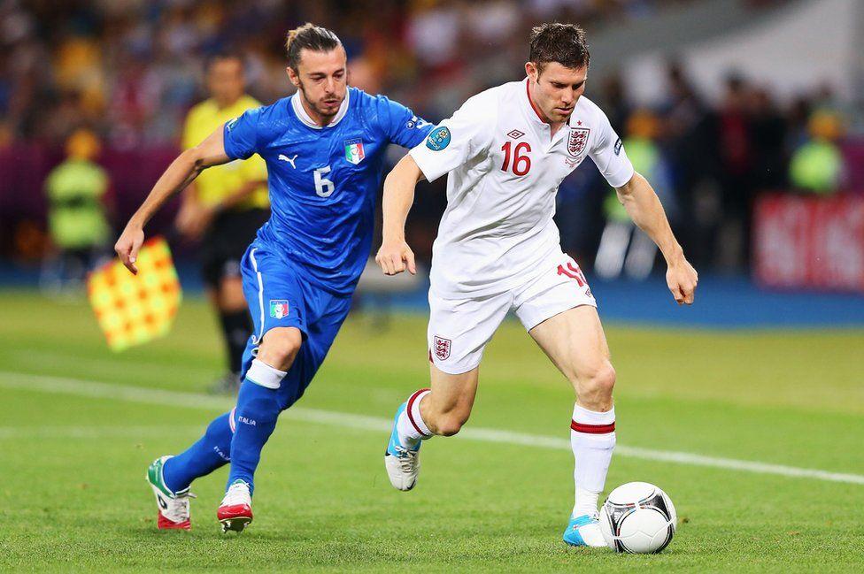 Milner plays against Italy