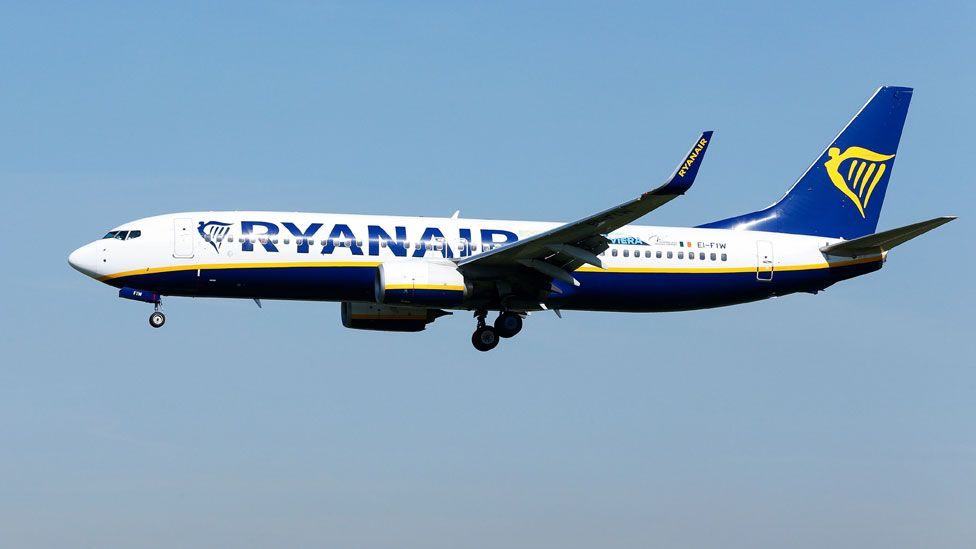A Ryanair flight (stock image)