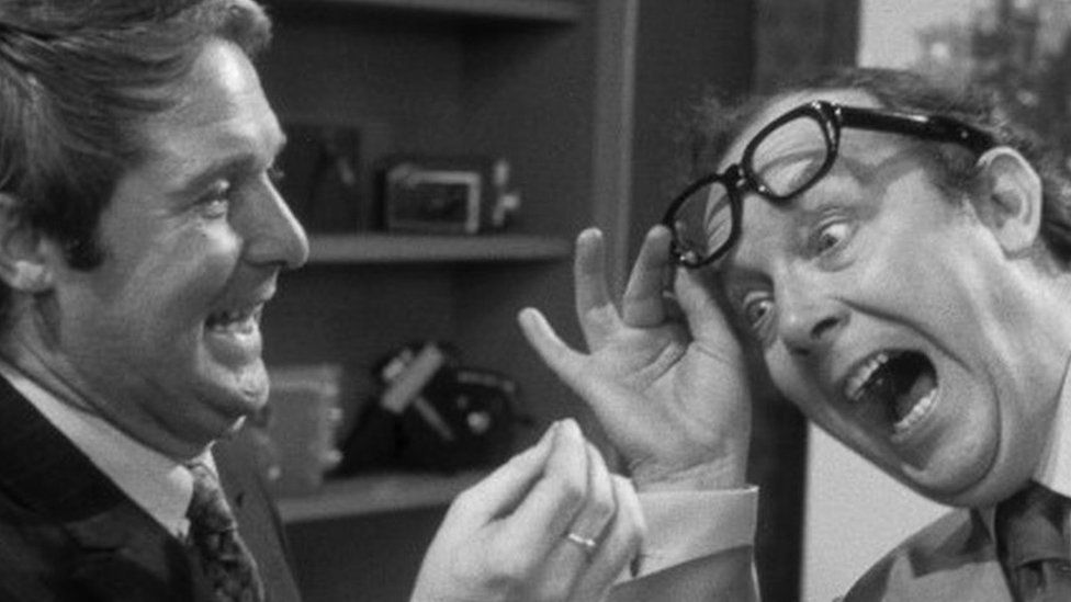 Ernie Wise and Eric Morecambe in one of the sketches from the shows