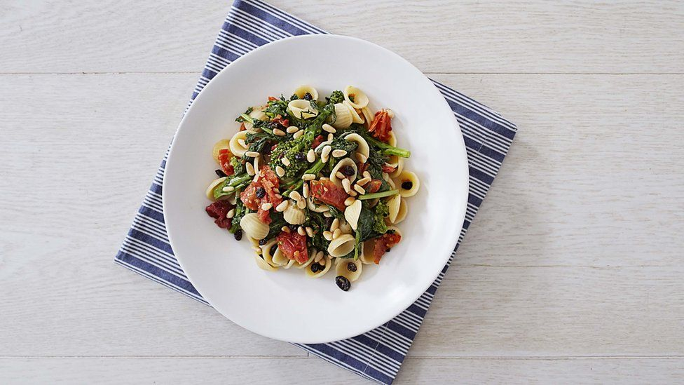 Orecchiette with Broccoli Rabe, Pine Nuts, and Currants