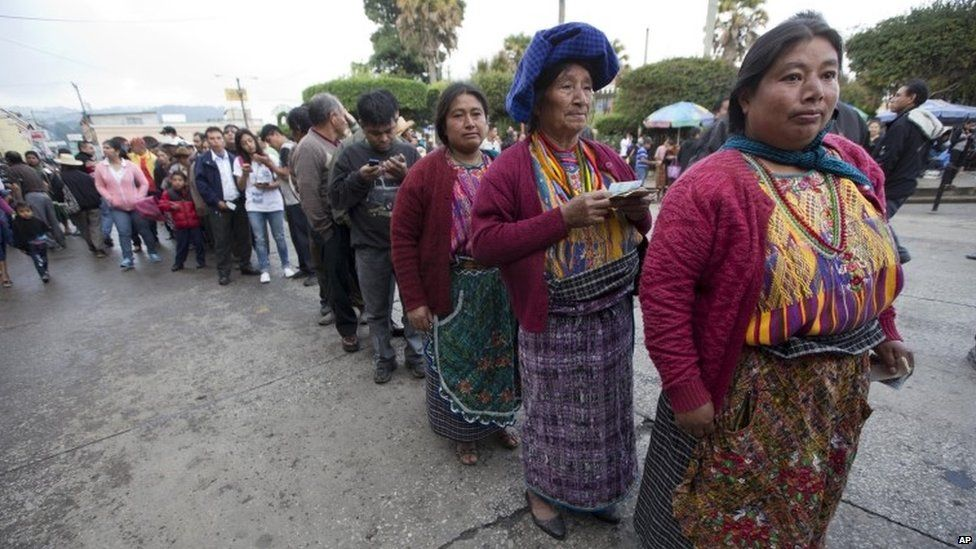 Voters in Guatemala poll day