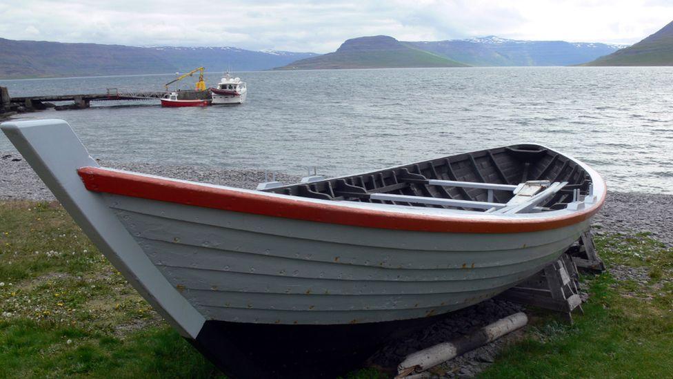 Oldest boat in Iceland, Vigur island.
