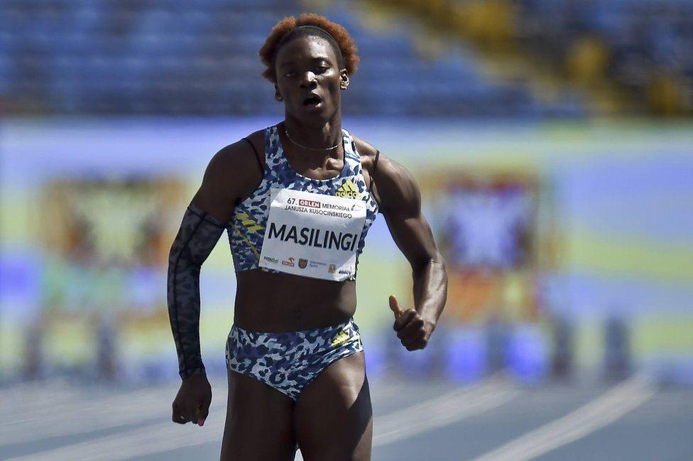 Beatrice Masilingi running
