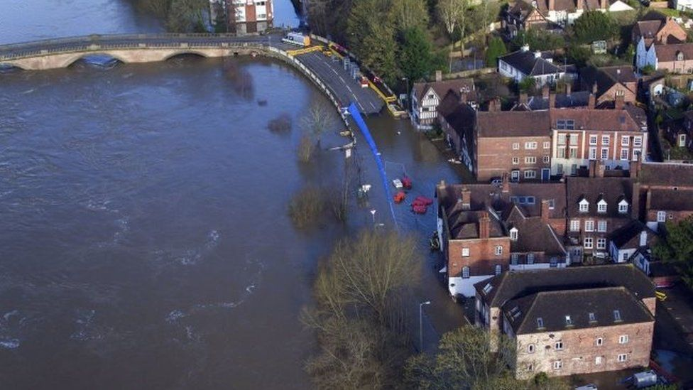 Flooding in Bewdley, Worcestershire