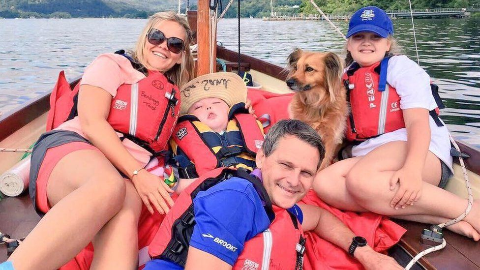 Holly Smallman with her family