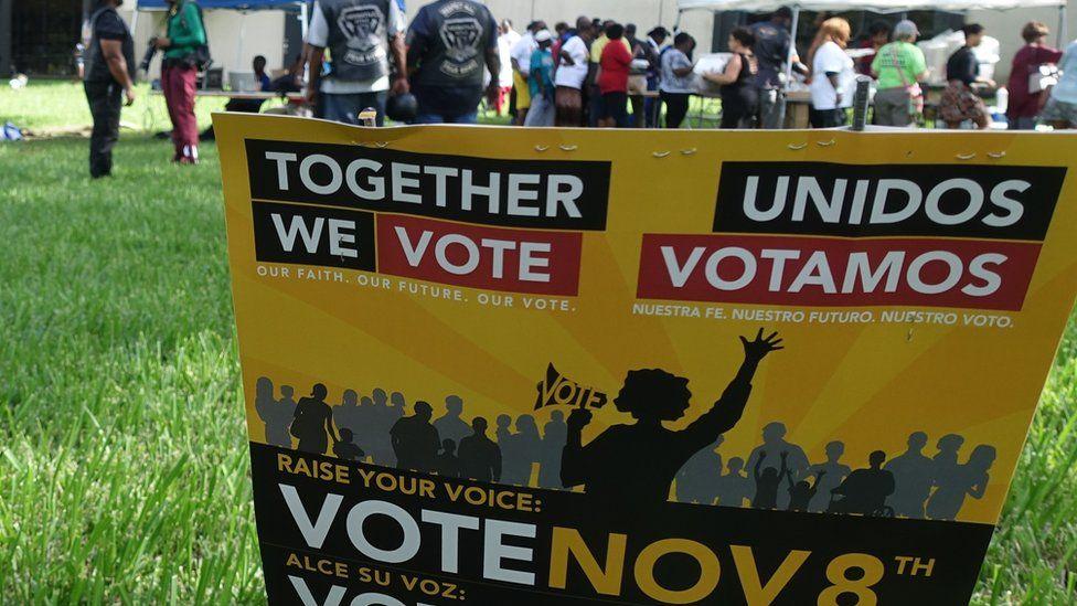 Hispanic voters rally