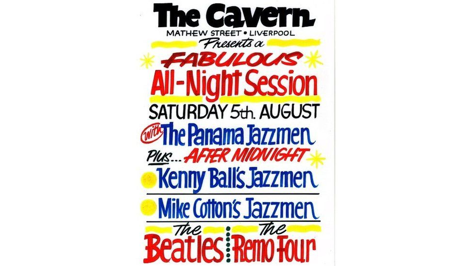Poster for the Cavern club from 1961