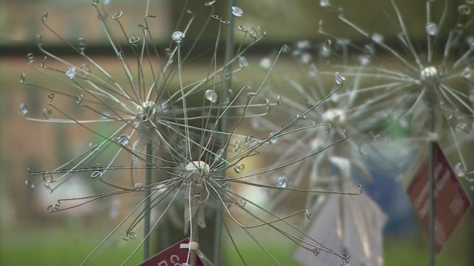 Dandelions are being sold to raise funds for a new hospital garden in Gloucestershire.