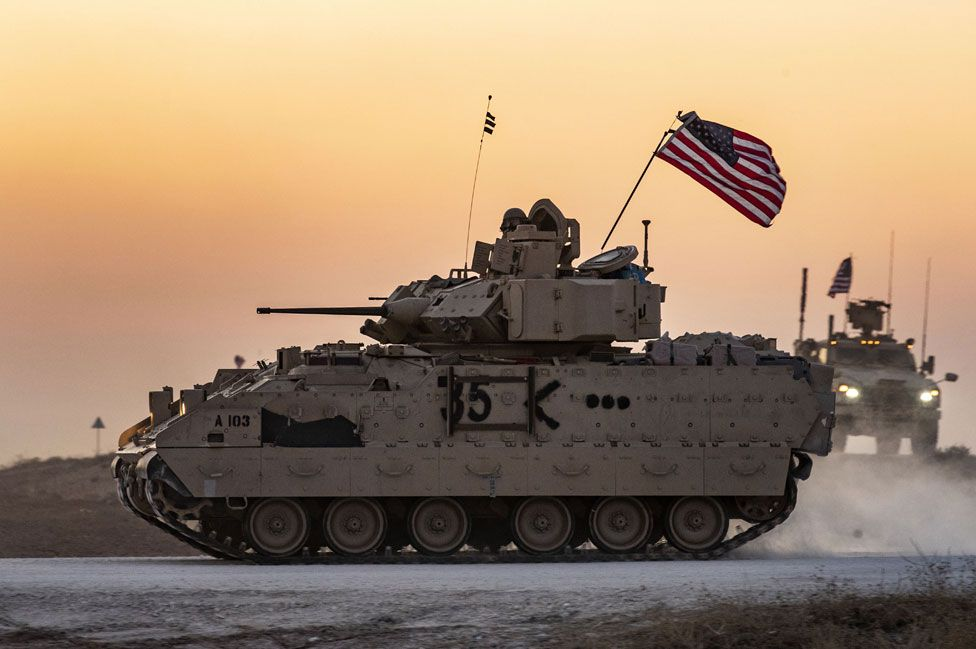 A US Bradley armoured personnel carrier