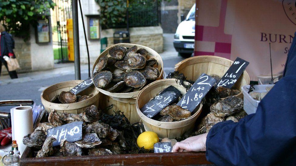 Richard Haward's Oysters at Borough Market, London 2005