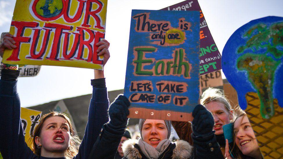 Protesters in Edinburgh
