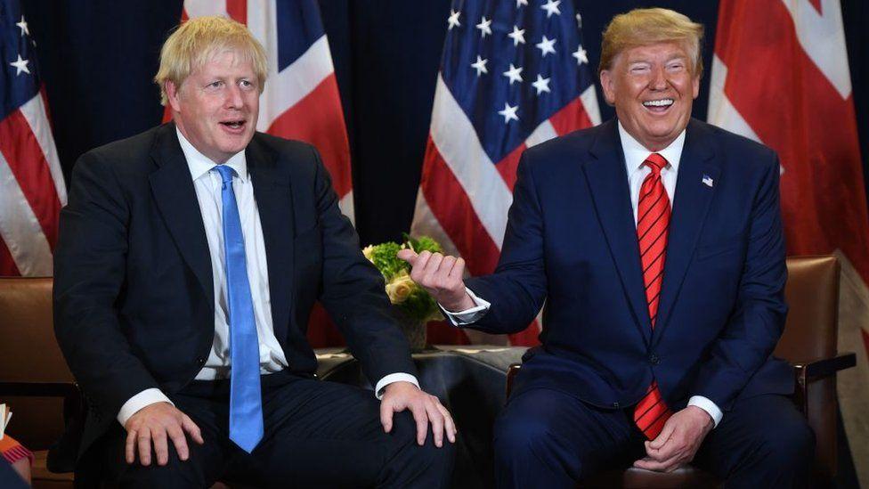 Boris Johnson and Donald Trump in September 2019