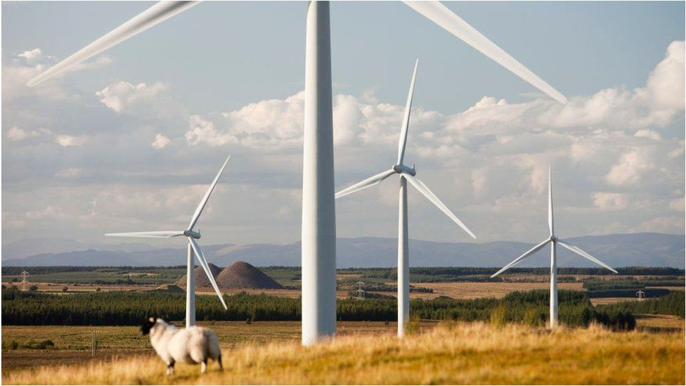 Wind farm near Carluke in Scotland